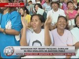 Pacquiao distributes relief goods in ComVal