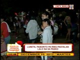 Some Pinoys spend Christmas eve in Luneta