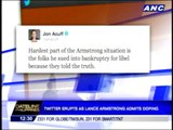 Twitter erupts as Lance Armstrong admits doping