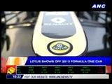 Lotus shows off 2013 F1 car