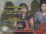 ABS-CBN reaps honors at Gandingan