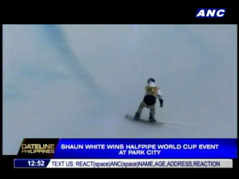 Shaun White wins Halfpipe World Cup event
