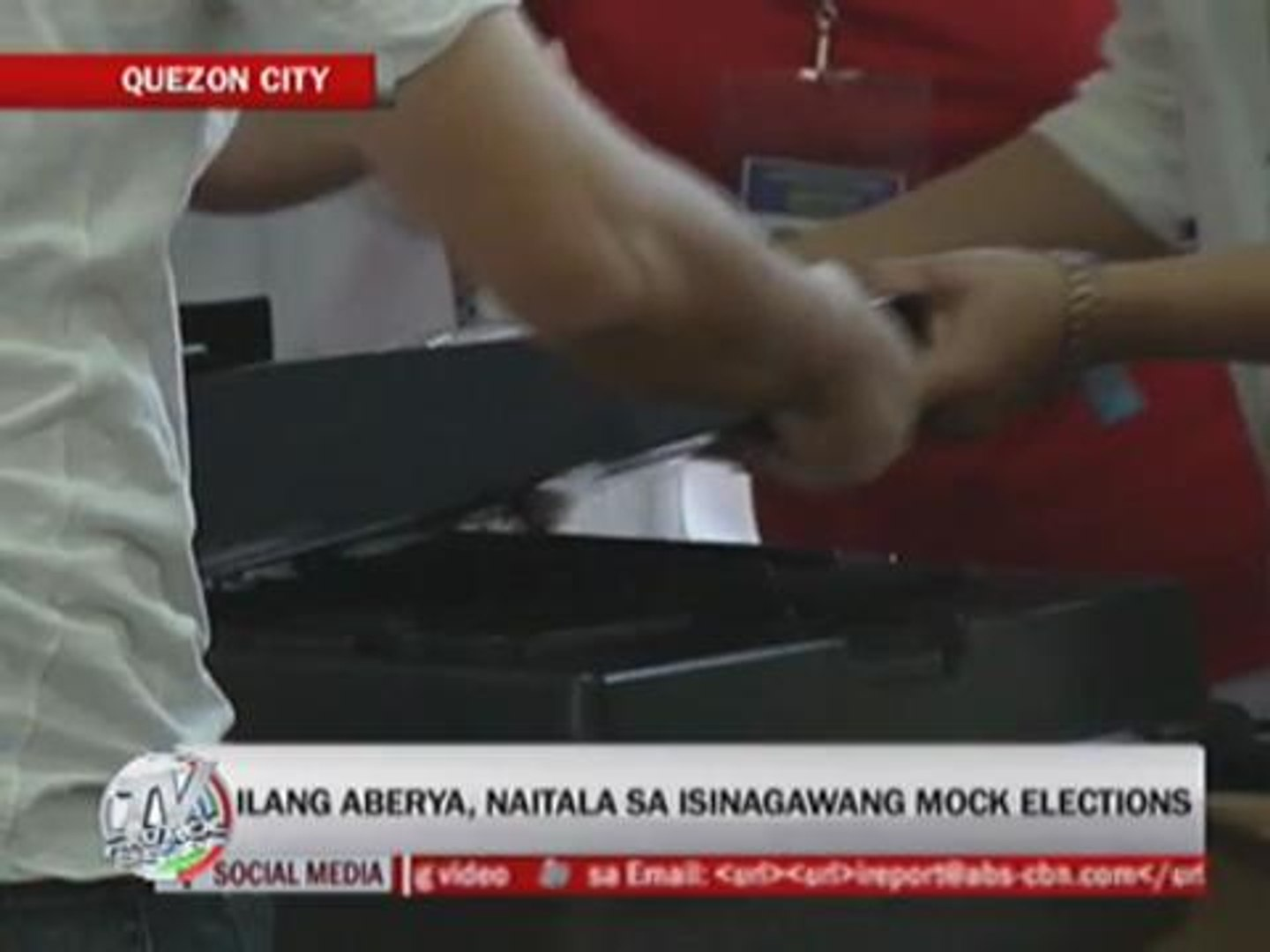 Glitches resolved in mock polls