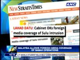 Malaysia allows foreign media coverage of Sabah operations