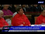 CBCP: Cardinals based in Rome have edge