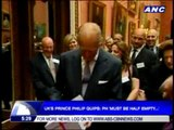UK's Prince Philip quips: PH 'must be half empty'