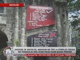 Bacolod diocese protests order vs 'Team Patay' tarp