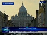 End of Benedict XVI's papacy nears