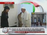 Pope gets down from vehicle for sick man