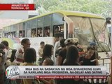 Pinoys begin to flock at bus terminals