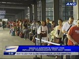 Manila airports ready for influx of passengers for holy week