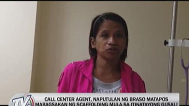 EXCL: Call center agent loses arm in construction mishap in QC