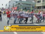 Thousands of workers stage protests on Labor Day