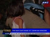 Fire near Camp Crame, Q.C. leaves 200 homeless