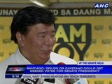 Santiago sees ouster of Enrile as Senate President