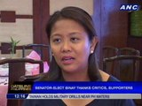 Senator-elect Binay thanks critics, supporters
