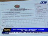 New lawmakers to take crash course on crafting laws