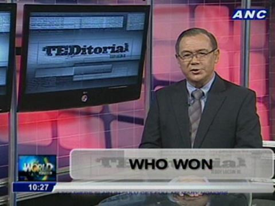Teditorial: Who won