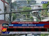 Manila Water to give assistance to families affected by burst pipe