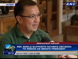 Rep. Enrile supports father's decision to resign as Senate President