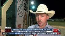 Junior bull riding rodeo at Tehachapi Mountain Festival