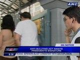 Anti-Bullying Act awaits Aquino's signature