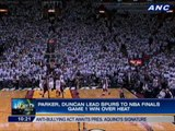 Parker, Duncan lead Spurs to NBA Finals Game 1 win over Heat