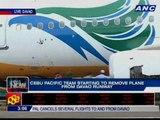 Cebu Pacific team starting to remove plane from Davao runway