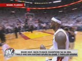 Miami Heat defend NBA crown vs San Antonio Spurs
