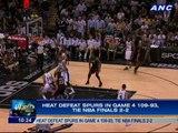 Heat defeat Spurs in Game 4 109-93, tie NBA Finals 2-2