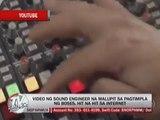 Marc Logan reports: Sound engineer at work