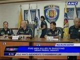 Five men killed in shooting near Pasay, Makati