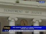 NBI agents arrest alleged kidnapper inside DOJ office