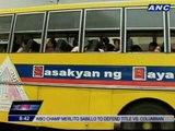Quezon City informal settlers transported to new homes in Bulacan