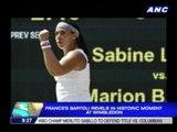 Bartoli revels in historic moment at Wimbledon