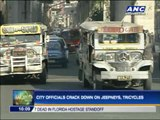 Manila City officials crack down on jeepneys, tricycles