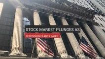 Stock Market Plunges As Recession Fears Linger