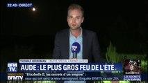 Incendie fixé dans l'Aude: les pompiers vont rester en surveillance constante toute la nuit