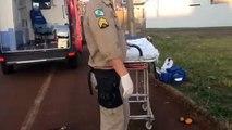 Homem é socorrido após cair de bicicleta no Florais do Paraná