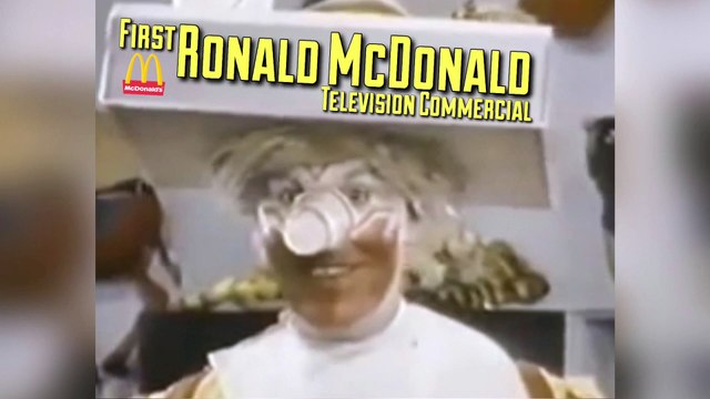 First Ronald McDonald Television Commercial (1963)