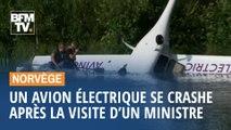 Norvège: un avion électrique se crashe après la visite d'un ministre à son bord