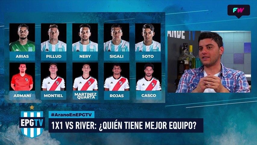 ¿Quien tiene mejor equipo Racing o River?
