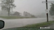 Onslaught of hail whips through Pennsylvania town