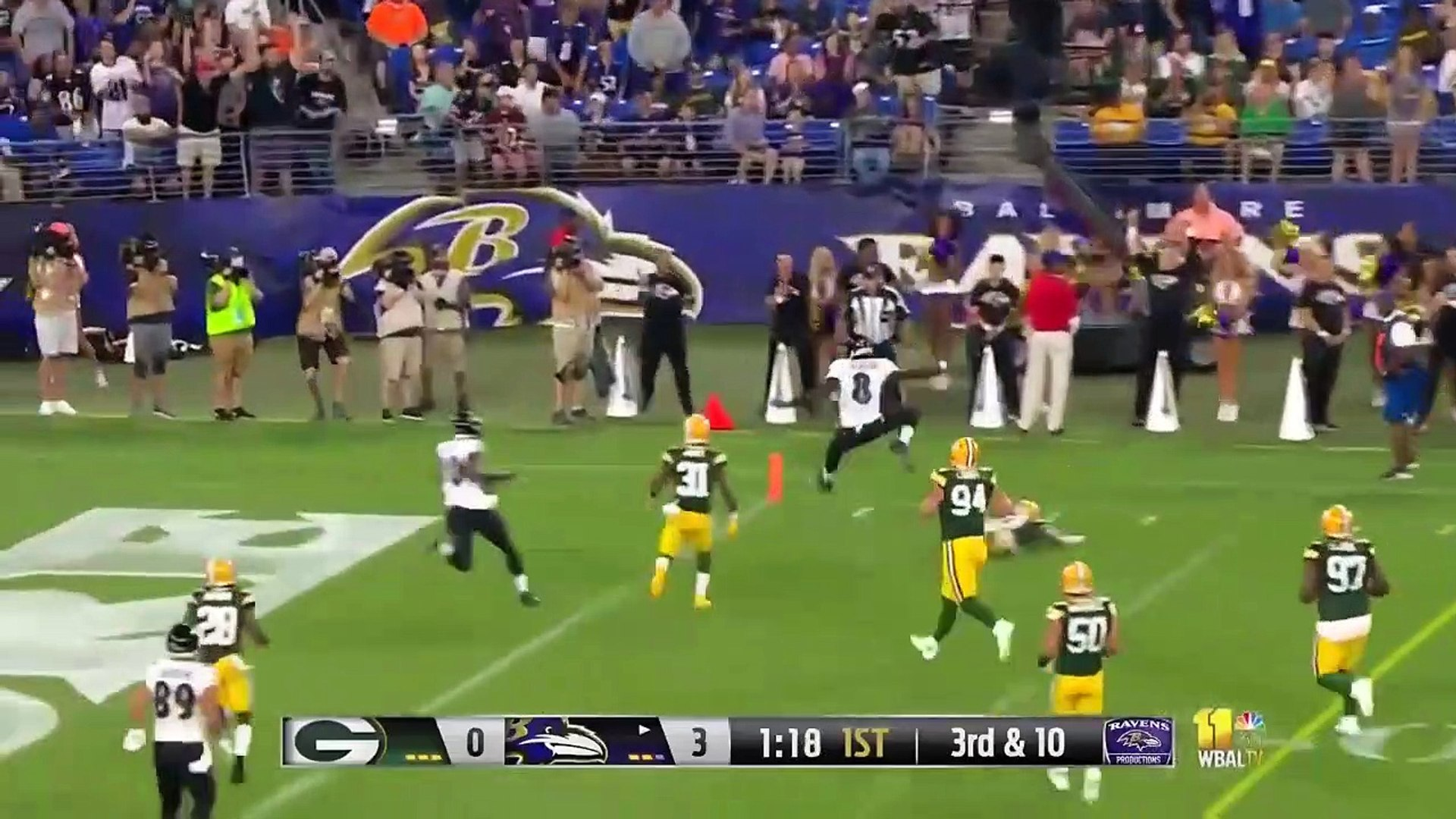 Packers vs Ravens NFL Preseason First Half Highlights - NFL Highlights