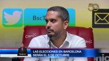 Elecciones en Barcelona se realizarán el 5 de Octubre