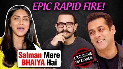 Mrunal Thakur Wants Salman As Her Brother, Kills Aamir Khan | Rapid Fire | Batla House | EXCLUSIVE