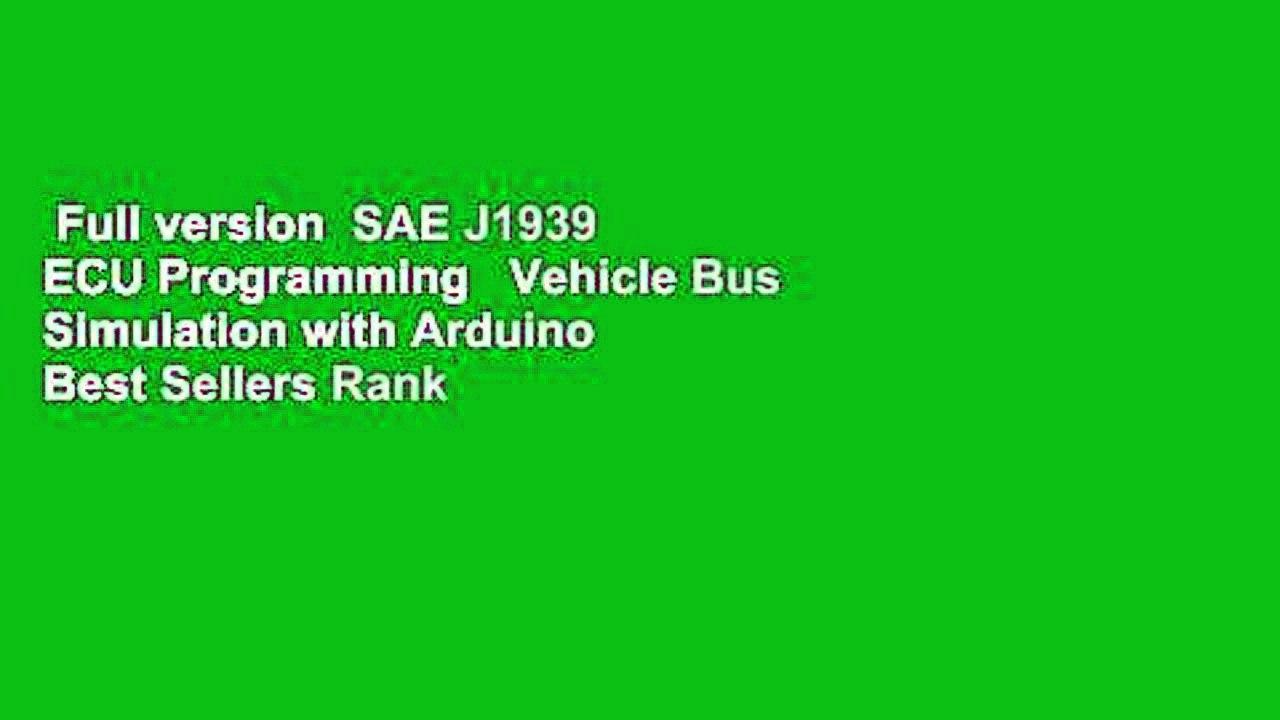 Full version SAE J1939 ECU Programming Vehicle Bus Simulation with Arduino  Best Sellers Rank
