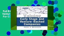 Full E-book  Valuing Early Stage and Venture-Backed Companies (Wiley Finance)  For Online