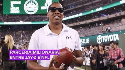 Confira a parceria polêmica entre Jay-Z e a NFL
