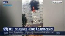 Saint-Denis: les habitants d'un immeuble sauvés d'un incendie par les jeunes du quartier et un rugbyman de l'équipe de France